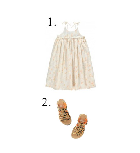 Floral dresses and leopard print sandals - LITTLE SPREE