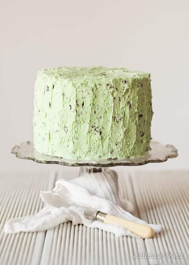 Mint Choc Chip Layer Cake - Littlesugarsnaps