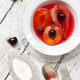 Vanilla Poached Fruit