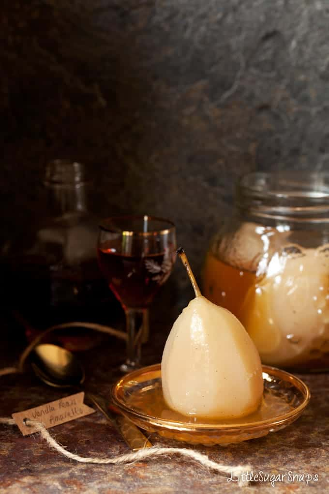 Amaretto Pears: Poached Fruit