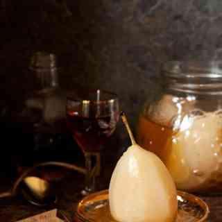 Amaretto Pears