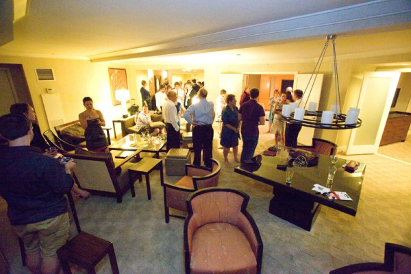 With seating for 25, the media suite had lots of room to mingle