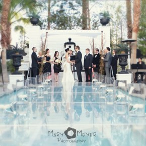 pooltop wedding vegas - mary meyer