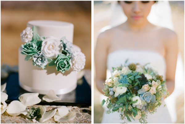 succulent wedding bouquet vegas