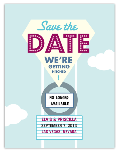 DIY las vegas save the date postcards