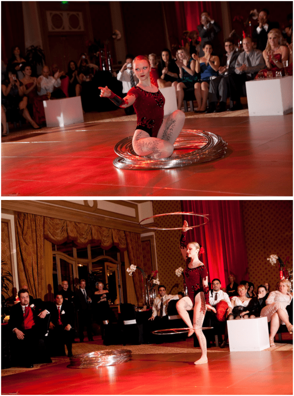 red vegas wedding