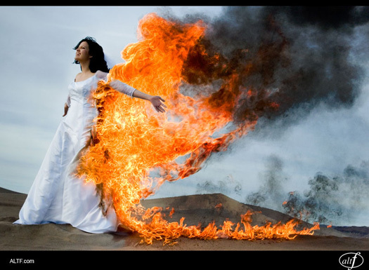 Alt F Photography - Trash the Dress Fire