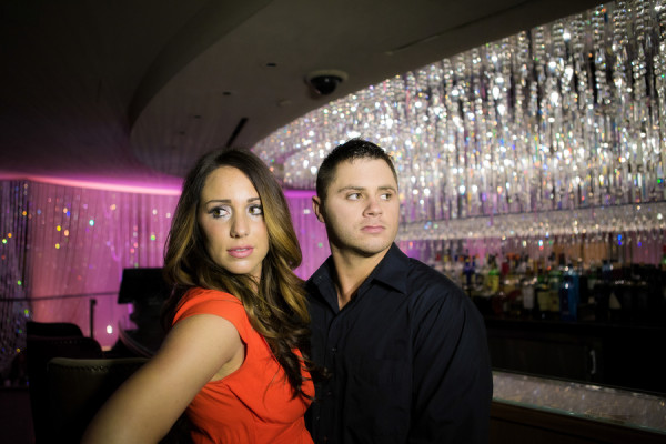 Sparkly Engagment Session on The Strip | Steffan Harris Photogra