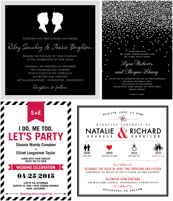 Unique Vegas Wedding Invitations by Wedding Paper Divas