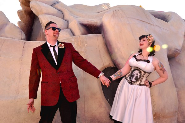 Rockabilly Wedding Session at the Neon Boneyard | Glitter Lens Photography