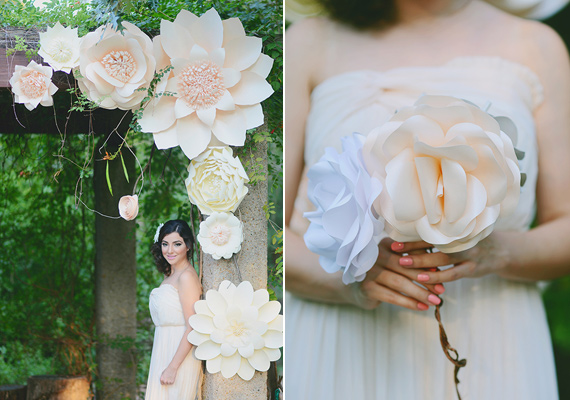 Oversized paper floral wedding decor? Yes, please! {Source}
