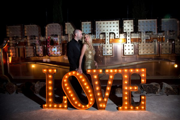 Neon Museum wedding | Little Vegas Wedding | Brilliant Imagery
