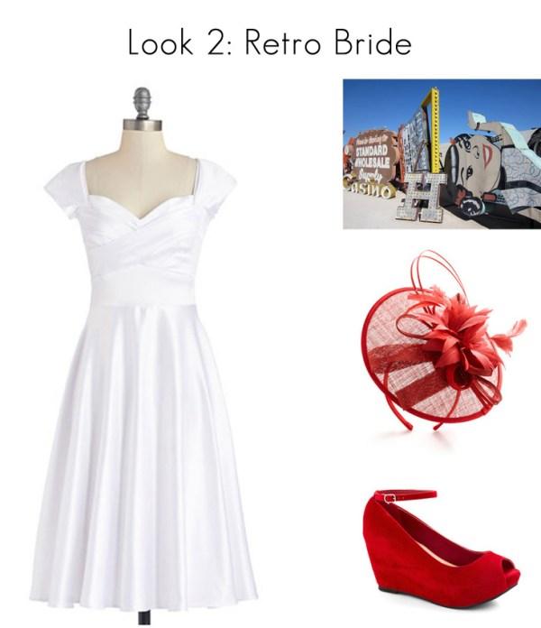Vegas Wedding Style - Retro Bride