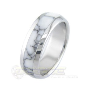 Marble Inlay Men's Wedding Ring | 28 Unique Wedding Rings for Men