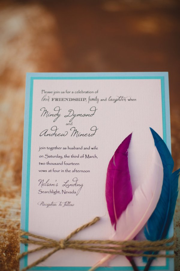 Desert + Feather Wedding Style | Little Vegas Wedding
