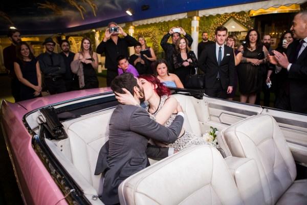 Funky Downtown Vegas Drive Thru Wedding From Taylored Photo Memories Little Vegas Wedding