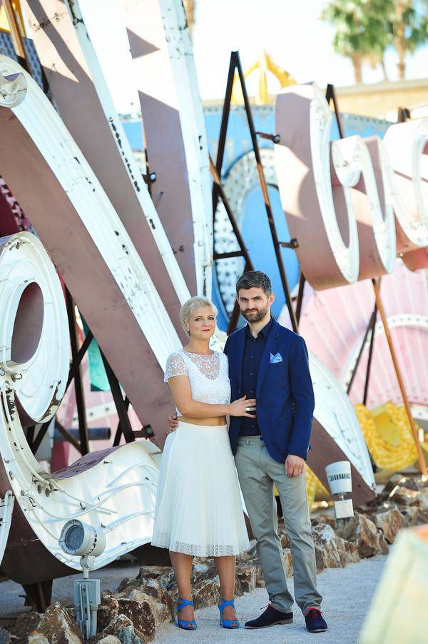 DTLV + Neon Museum    Little Vegas Wedding