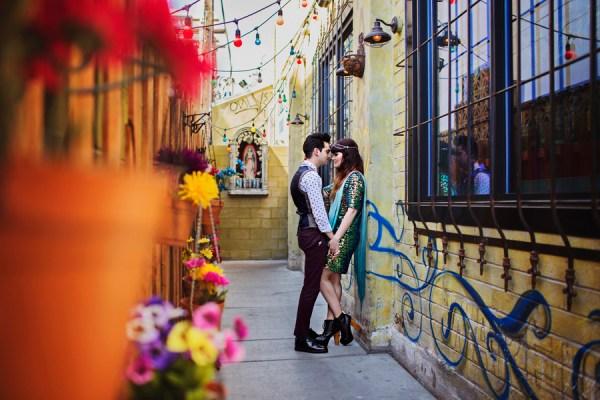 Downtown Las Vegas Engagement | Little Vegas Wedding