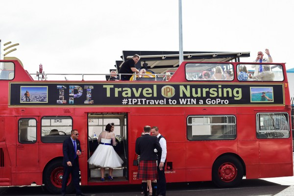 Double Decker Bus | Little Vegas Wedding