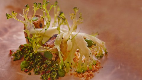 Le Quartier Français' Tasting Room in South Africa prepares dishes such as this broccoli in five ways.