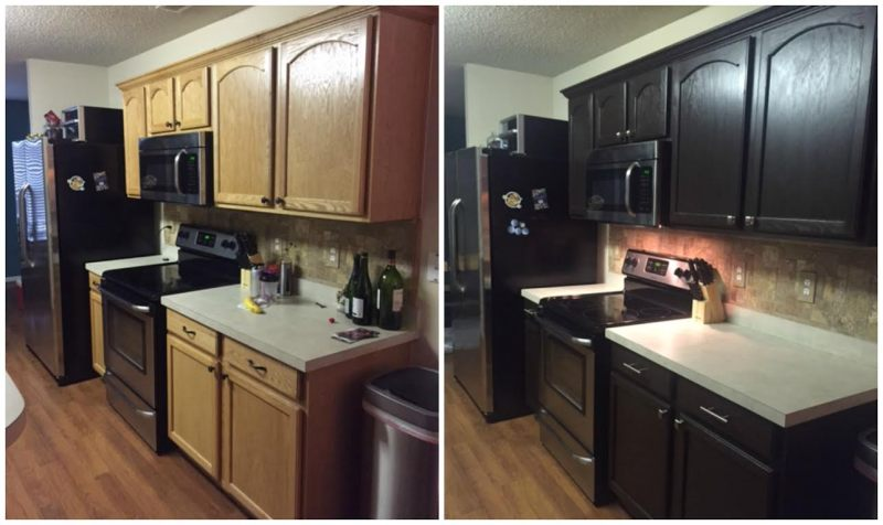 Large Of Espresso Kitchen Cabinets