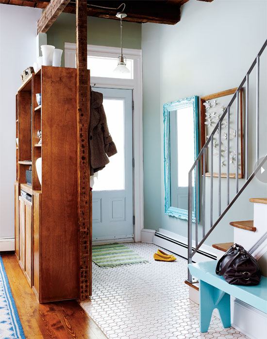 No Foyer Ideas : Inspiring no coat closet entryways live simply by annie