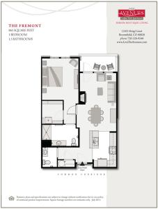 Fremont: 1bed 1bath - Floorplan