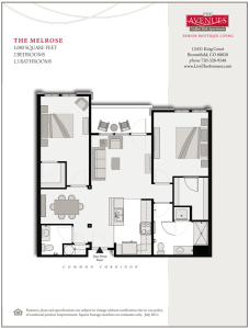 Melrose: 2bed 1bath - Floorplan