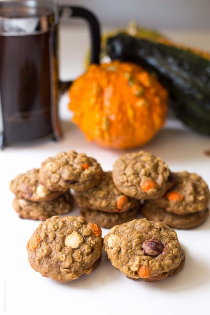 Pumpkin Oatmeal Muffin Top Cookies