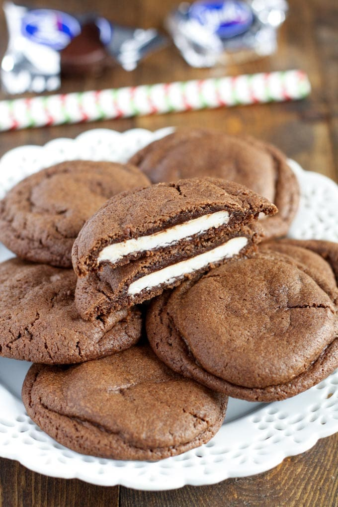 peppermint patties. These Peppermint Patty Stuffed Chocolate Cookies ...