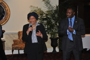 President Sirleaf and El Amin Family 007