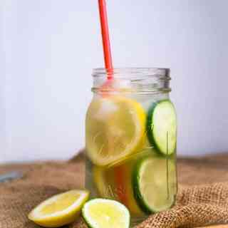 Lemon, Lime & Cucumber Infused Water