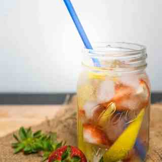 Mango & Strawberry Infused Water