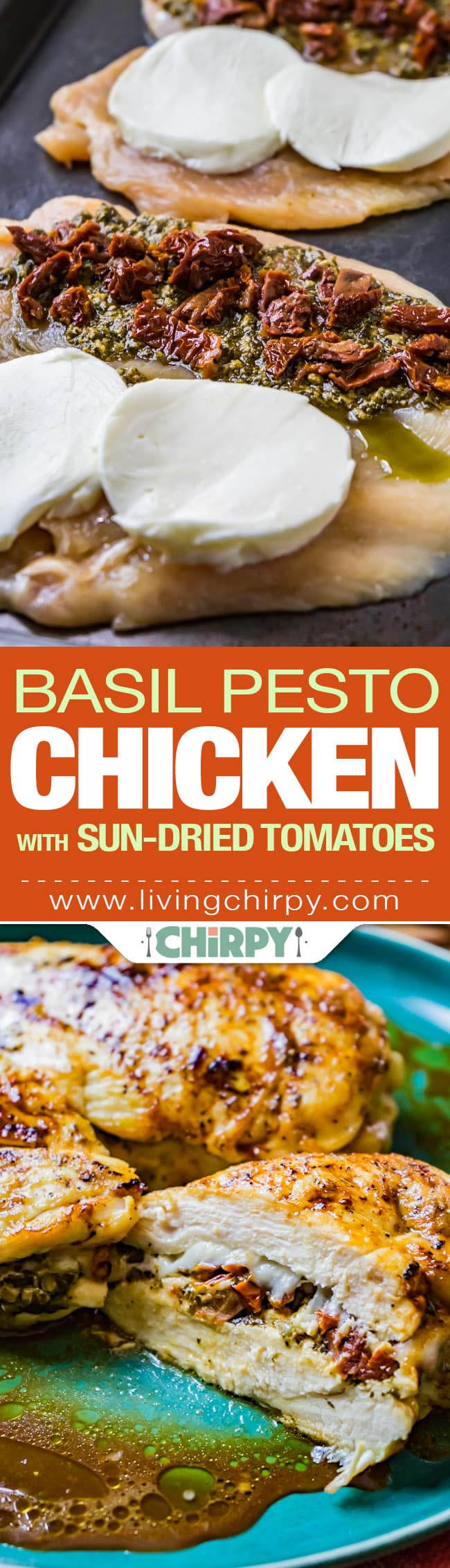 Basil Pesto Chicken With Sundried Tomatoes