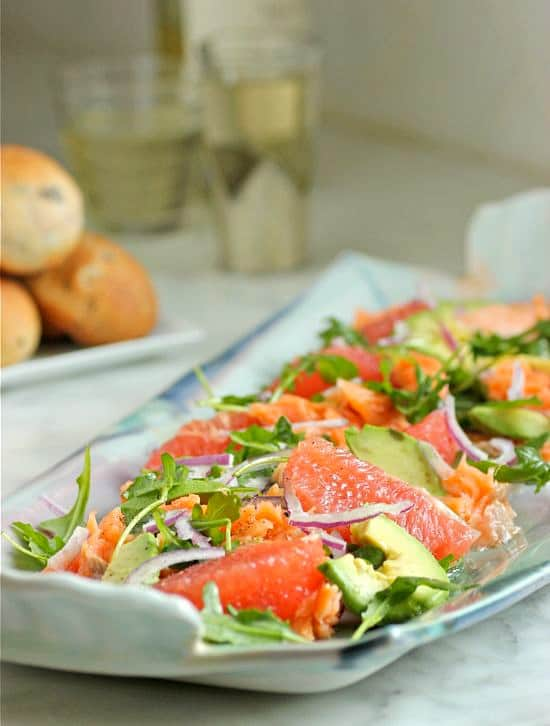 Salmon Grapefruit and Avocado Salad