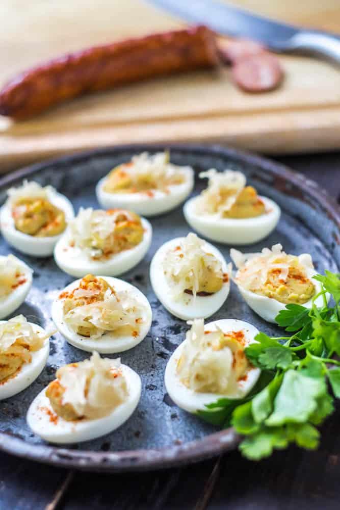 Cajun Devilled Eggs Close