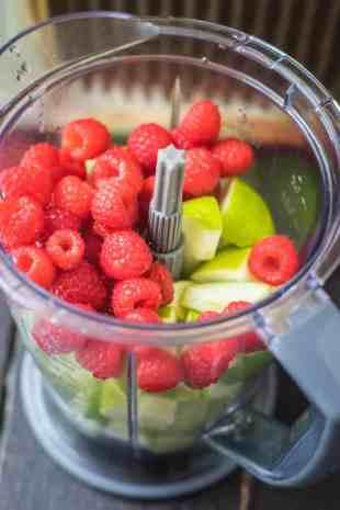 Apple Raspberry Popsicles