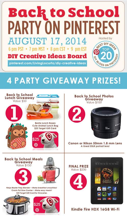 back to school pinterest party GIVEAWAY: Win Fun Prizes from We're the Millers! 500x850