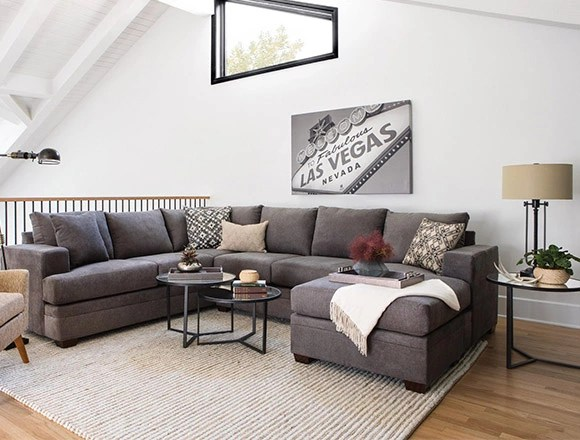 Living Room Ideas   Decor   Living Spaces transitional Living Room with Kerri 2 Piece Sectional W Raf Chaise