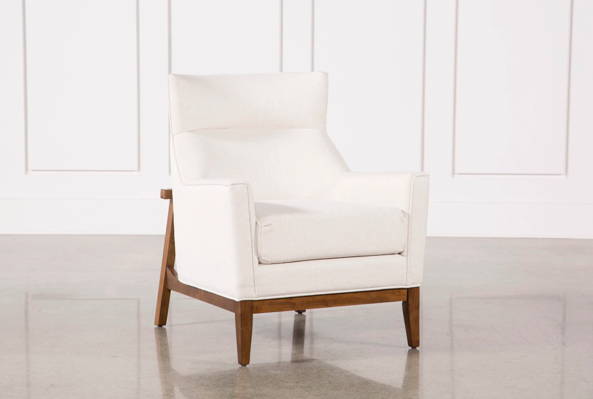 Neat Benson Ivory Accent Chair Benson Ivory Accent Chair Living Spaces Living Spaces Recliner Chairs Living Spaces Side Chairs living room Living Spaces Chairs