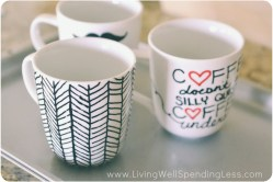Modern Once Your Diy Sharpie Mugs Are Y Simply Go Into Oven To Set How To Make Diy Sharpie Mugs Living Well Spending Color Your Own Coffee Mug