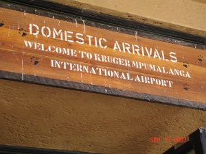 Expat Travel Kruger Airport Sign