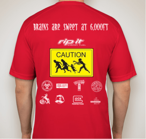 Zombie Run Back Shirt