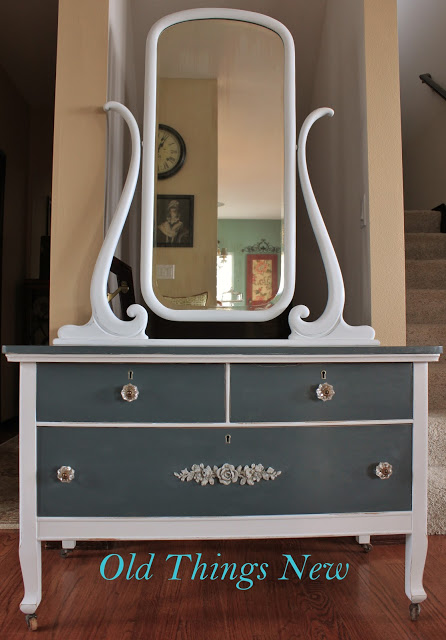 Striped Gray Dresser After 001-001