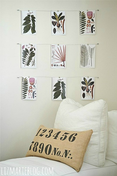 DIY Wire art display - lizmarieblog.com