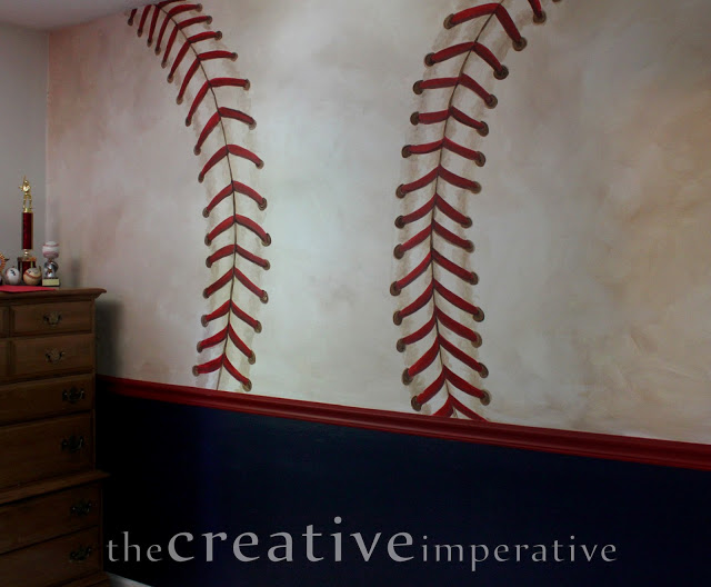 Inspire me linky party 14 for Baseball wall mural