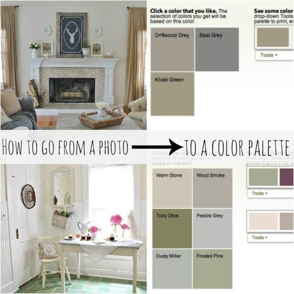 How to choose a color palette using a simple tool go from your favorite inspiration photos to a whole color palette for your home!