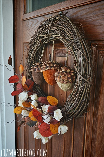 acorn wreath for fall