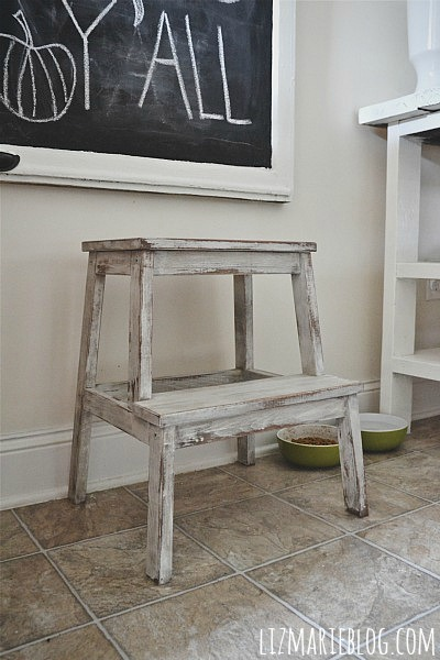 Ikea Hack: Bekvam stepstool makeover - easy makeover & this stool is less than $20 from Ikea!! - lizmarieblog.com