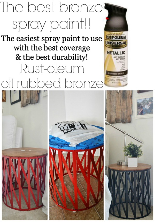 The best bronze spray paint for any DIY project!! lizmarieblog.com